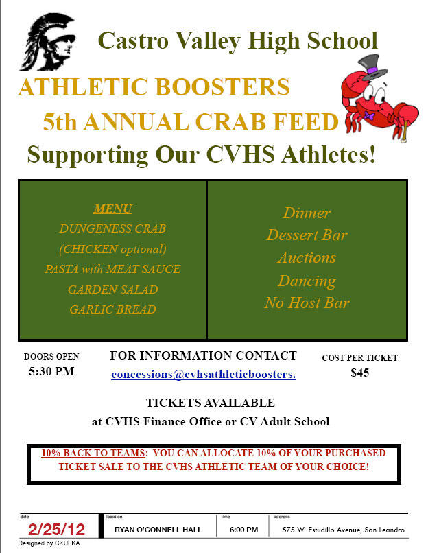 CVHS 5th Annual Crab Feed